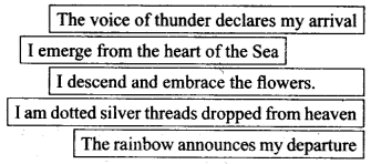 NCERT Solutions for Class 9 English Literature Chapter 12 Song of the Rain Q1