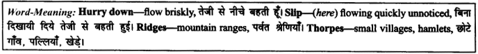 NCERT Solutions for Class 9 English Literature Chapter 6 The Brook Para Phrase Q2