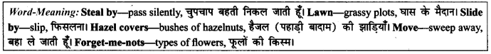 NCERT Solutions for Class 9 English Literature Chapter 6 The Brook Para Phrase Q9