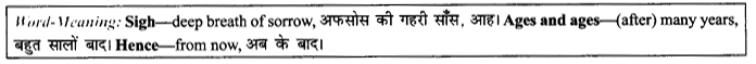 NCERT Solutions for Class 9 English Literature Chapter 7 The Road Not Taken Paraphrase Q4