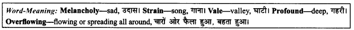 NCERT Solutions for Class 9 English Literature Chapter 8 The Solitary Reaper Paraphrase Q2