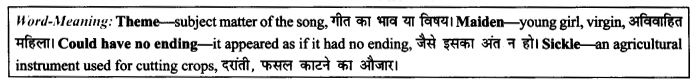 NCERT Solutions for Class 9 English Literature Chapter 8 The Solitary Reaper Paraphrase Q7