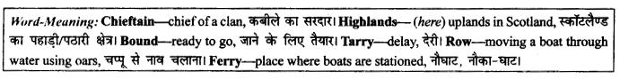 NCERT Solutions for Class 9 English Literature Chapter 9 Lord Ullins Daughter Paraphrase Q1