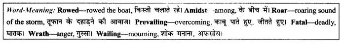 NCERT Solutions for Class 9 English Literature Chapter 9 Lord Ullins Daughter Paraphrase Q11