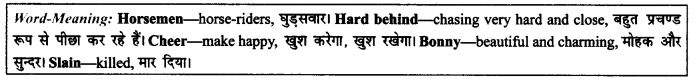 NCERT Solutions for Class 9 English Literature Chapter 9 Lord Ullins Daughter Paraphrase Q4