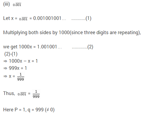NCERT Solutions for Class 9 Maths Chapter 1 Number Systems Ex 1.3 q10.1