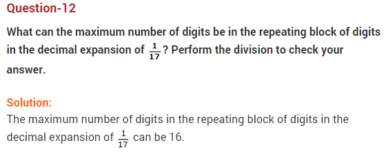 NCERT Solutions for Class 9 Maths Chapter 1 Number Systems Ex 1.3 q12