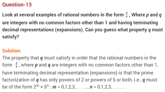 NCERT Solutions for Class 9 Maths Chapter 1 Number Systems Ex 1.3 q13