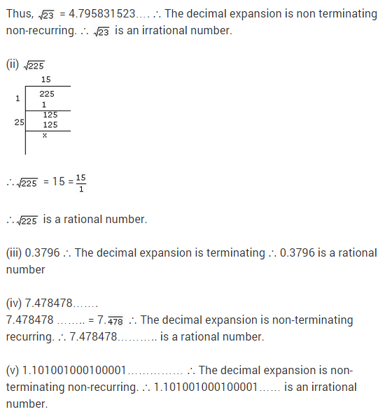 NCERT Solutions for Class 9 Maths Chapter 1 Number Systems Ex 1.3 q16.1