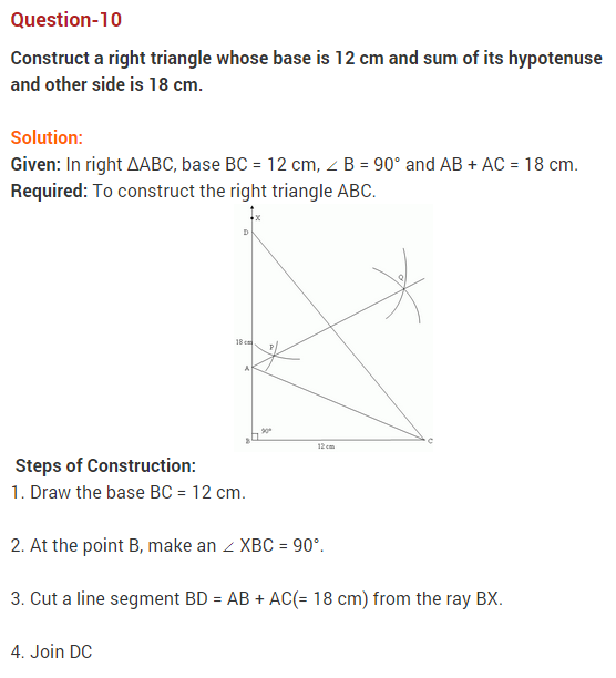 NCERT Solutions for Class 9 Maths Chapter 11 Constructions Ex 11.2 Q10