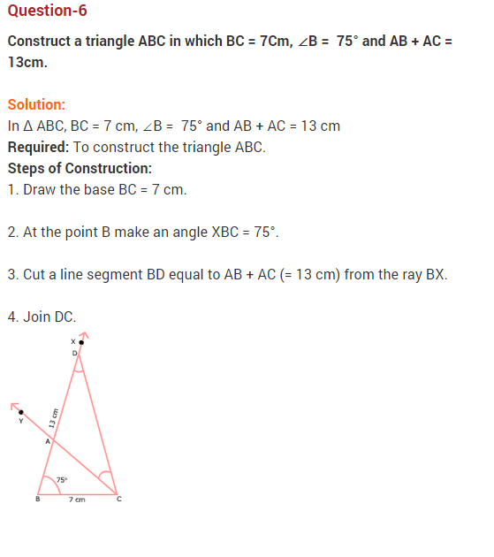 NCERT Solutions for Class 9 Maths Chapter 11 Constructions Ex 11.2 Q6