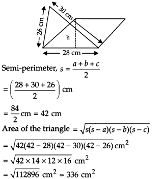 NCERT Solutions for Class 9 Maths Chapter 12 Heron's Formula Ex 12.2 Q4