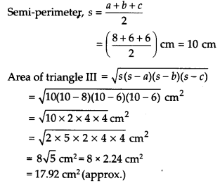 NCERT Solutions for Class 9 Maths Chapter 12 Heron's Formula Ex 12.2 Q7.2