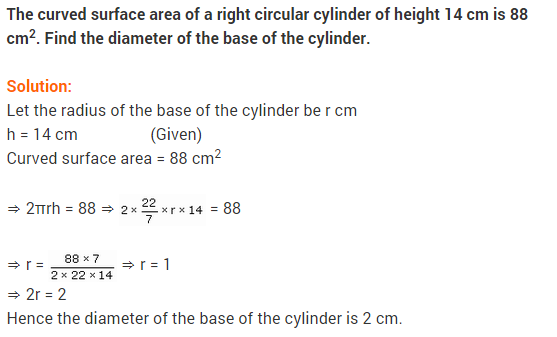 NCERT Solutions for Class 9 Maths Chapter 13 Surface Areas and Volumes Ex 13.2 A1