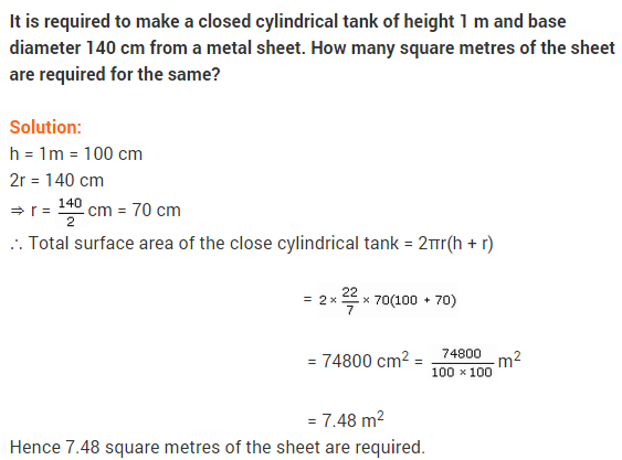 NCERT Solutions for Class 9 Maths Chapter 13 Surface Areas and Volumes Ex 13.2 A2