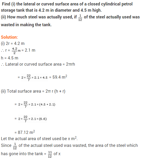 NCERT Solutions for Class 9 Maths Chapter 13 Surface Areas and Volumes Ex 13.2 A9