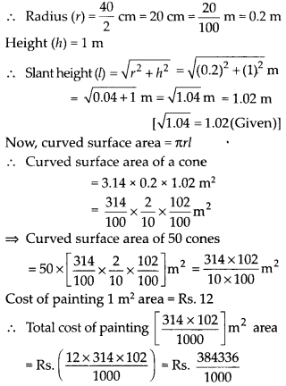 NCERT Solutions for Class 9 Maths Chapter 13 Surface Areas and Volumes Ex 13.3 Q8