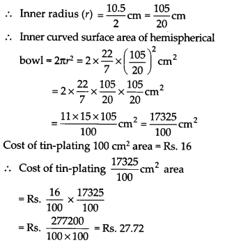NCERT Solutions for Class 9 Maths Chapter 13 Surface Areas and Volumes Ex 13.4 Q5