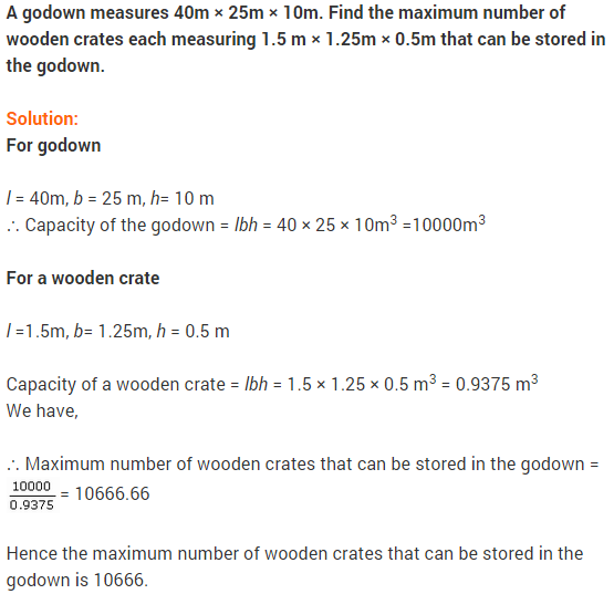 NCERT Solutions for Class 9 Maths Chapter 13 Surface Areas and Volumes Ex 13.5 A7