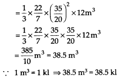 NCERT Solutions for Class 9 Maths Chapter 13 Surface Areas and Volumes Ex 13.7 Q5