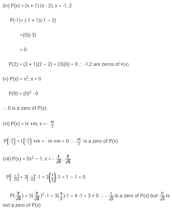 NCERT Solutions for Class 9 Maths Chapter 2 Polynomials Ex 2.2 Q8.1