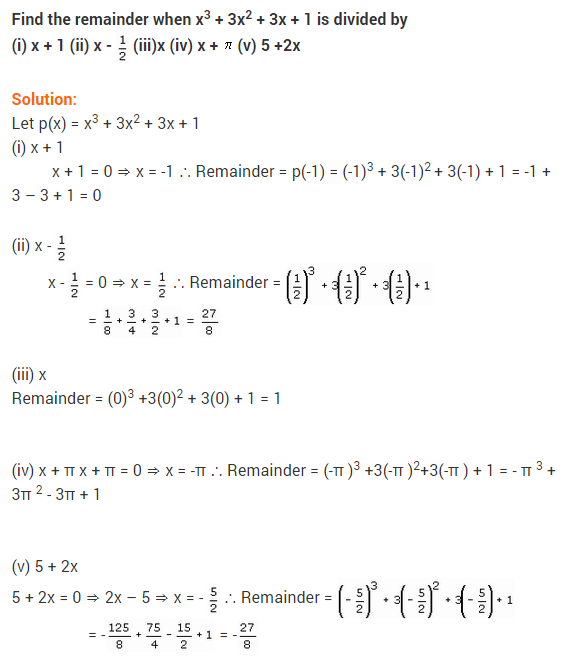 NCERT Solutions for Class 9 Maths Chapter 2 Polynomials Ex 2.3 Q4