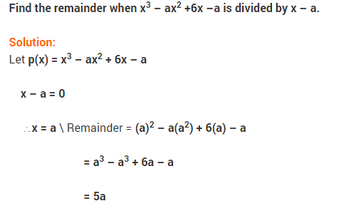 NCERT Solutions for Class 9 Maths Chapter 2 Polynomials Ex 2.3 Q5