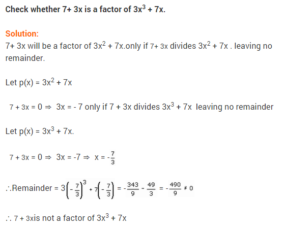NCERT Solutions for Class 9 Maths Chapter 2 Polynomials Ex 2.3 Q6