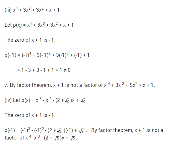 NCERT Solutions for Class 9 Maths Chapter 2 Polynomials Ex 2.4 Q13.1