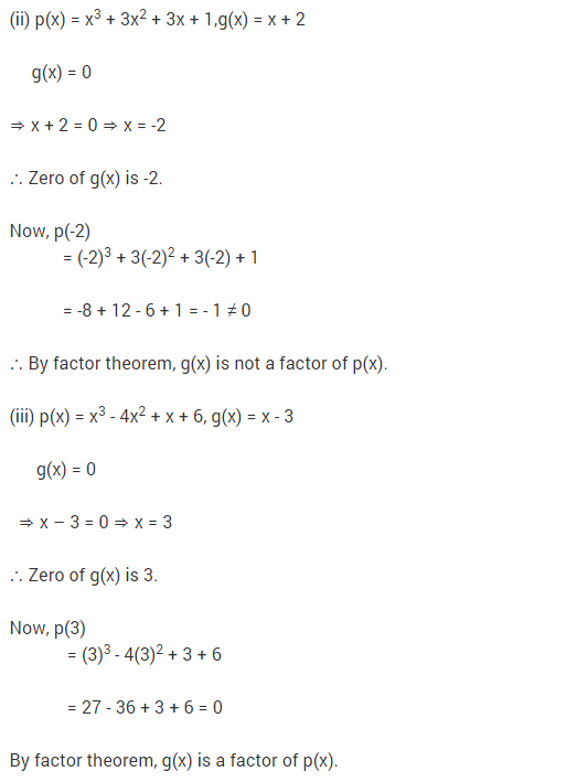 NCERT Solutions for Class 9 Maths Chapter 2 Polynomials Ex 2.4 Q14.1