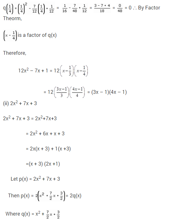 NCERT Solutions for Class 9 Maths Chapter 2 Polynomials Ex 2.4 Q16.1