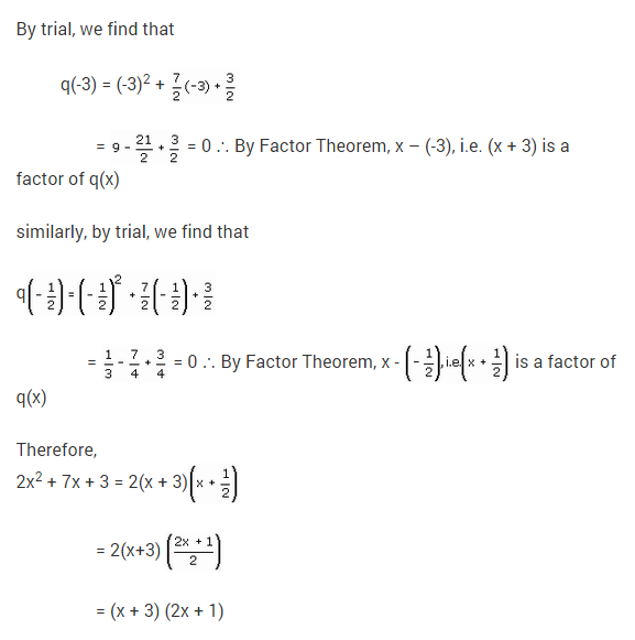 NCERT Solutions for Class 9 Maths Chapter 2 Polynomials Ex 2.4 Q16.2