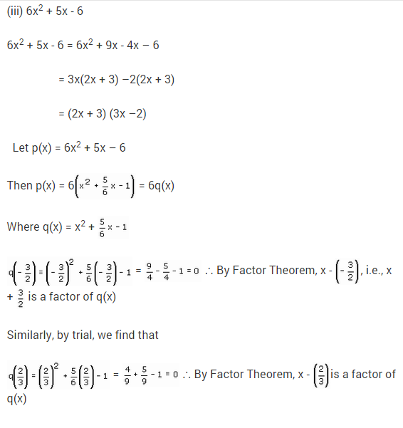 NCERT Solutions for Class 9 Maths Chapter 2 Polynomials Ex 2.4 Q16.3