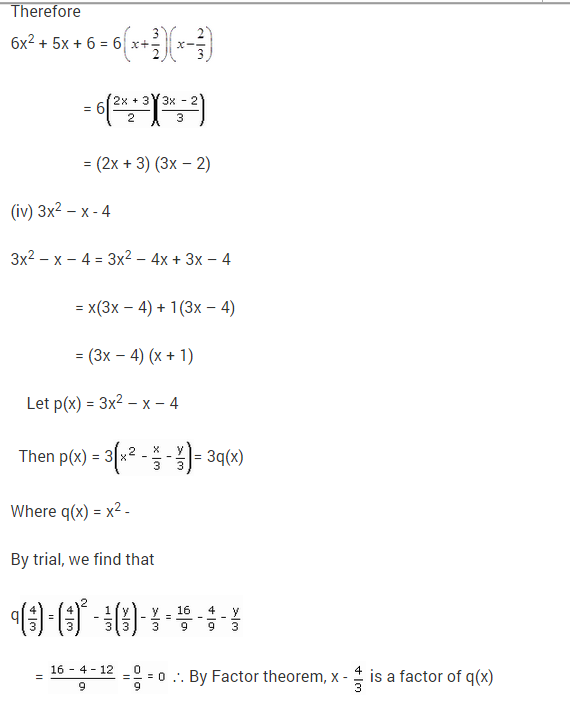 NCERT Solutions for Class 9 Maths Chapter 2 Polynomials Ex 2.4 Q16.4
