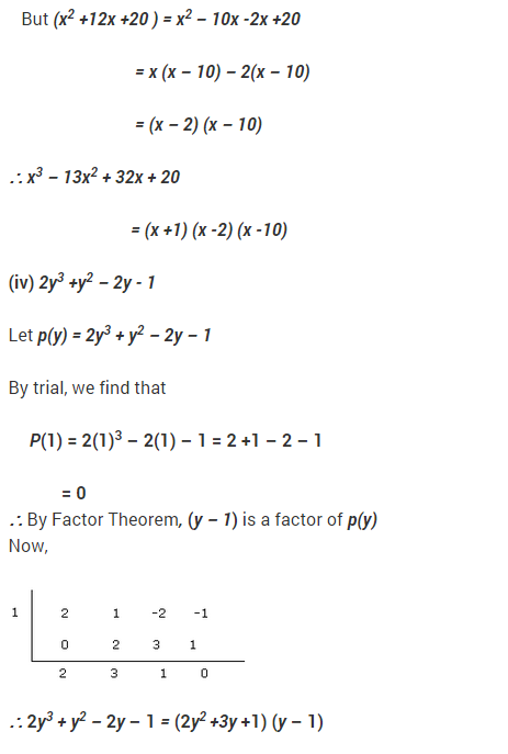 NCERT Solutions for Class 9 Maths Chapter 2 Polynomials Ex 2.4 Q17.2