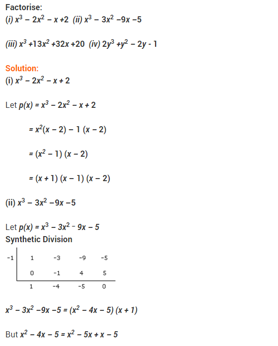 NCERT Solutions for Class 9 Maths Chapter 2 Polynomials Ex 2.4 Q17