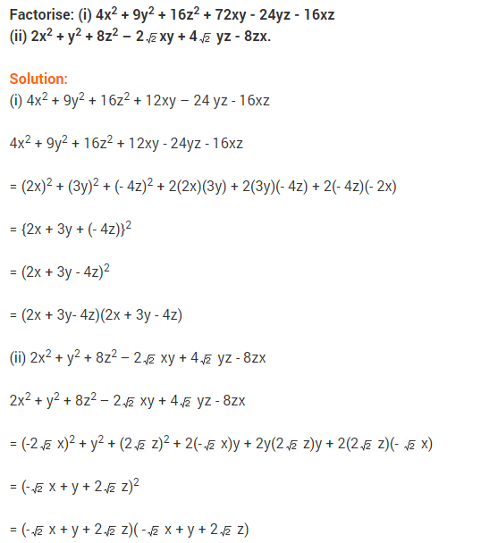 NCERT Solutions for Class 9 Maths Chapter 2 Polynomials Ex 2.5 q5