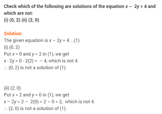 NCERT Solutions for Class 9 Maths Chapter 4 Linear Equations in Two Variables Ex 4.2 Q7