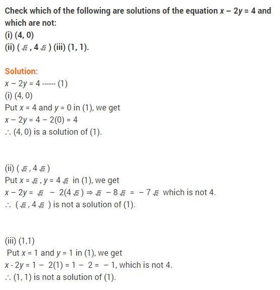 NCERT Solutions for Class 9 Maths Chapter 4 Linear Equations in Two Variables Ex 4.2 Q8