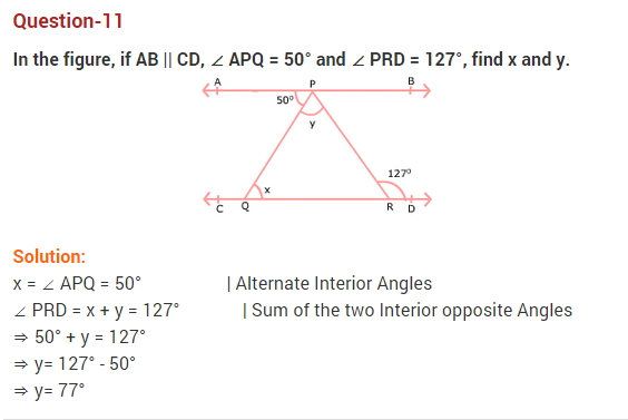NCERT Solutions for Class 9 Maths Chapter 6 Lines and Angles Ex 6.2 Q11