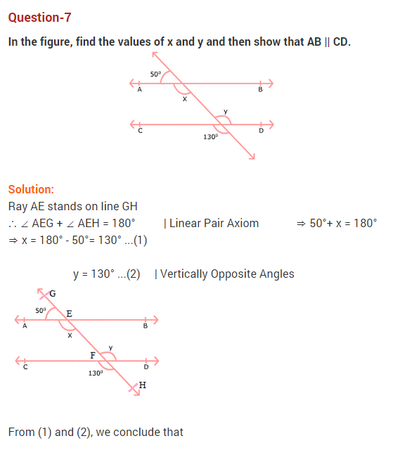 NCERT Solutions for Class 9 Maths Chapter 6 Lines and Angles Ex 6.2 Q7