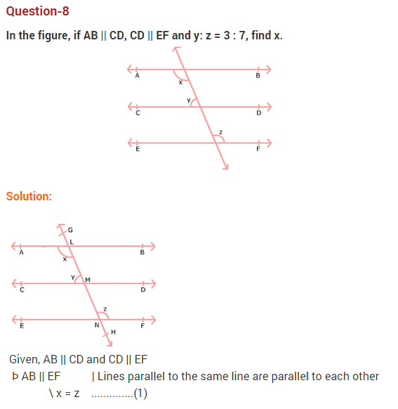 NCERT Solutions for Class 9 Maths Chapter 6 Lines and Angles Ex 6.2 Q8
