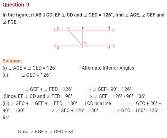 NCERT Solutions for Class 9 Maths Chapter 6 Lines and Angles Ex 6.2 Q9