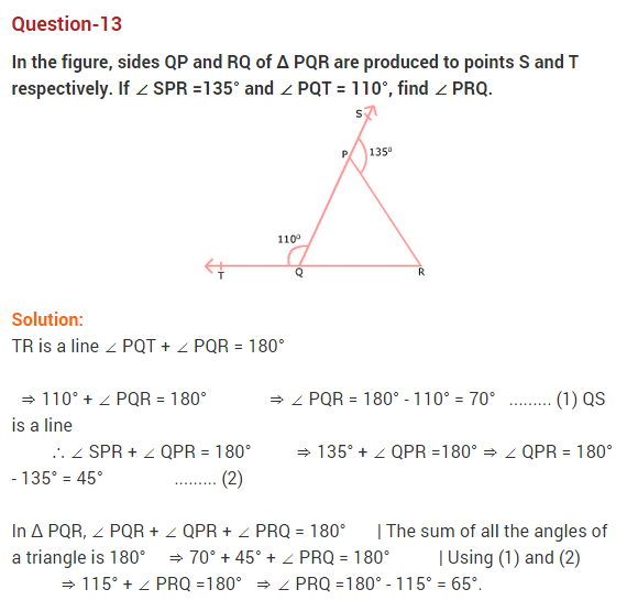 NCERT Solutions for Class 9 Maths Chapter 6 Lines and Angles Ex 6.3 Q13