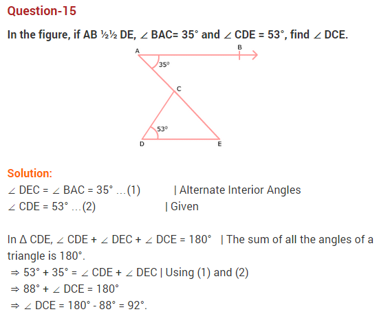 NCERT Solutions for Class 9 Maths Chapter 6 Lines and Angles Ex 6.3 Q15