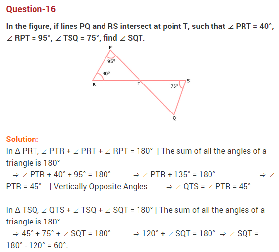 NCERT Solutions for Class 9 Maths Chapter 6 Lines and Angles Ex 6.3 Q16