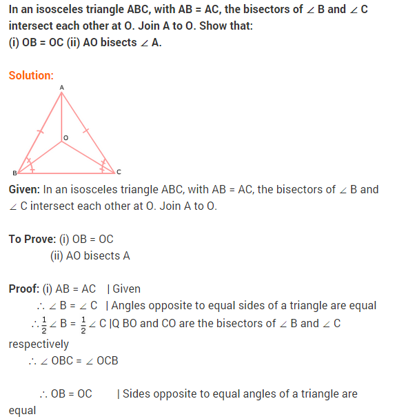 NCERT Solutions for Class 9 Maths Chapter 7 Triangles Ex 7.2 q1