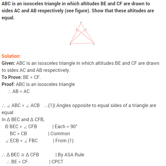 NCERT Solutions for Class 9 Maths Chapter 7 Triangles Ex 7.2 q3
