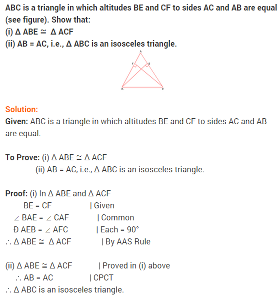 NCERT Solutions for Class 9 Maths Chapter 7 Triangles Ex 7.2 q4