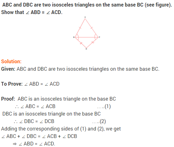 NCERT Solutions for Class 9 Maths Chapter 7 Triangles Ex 7.2 q5